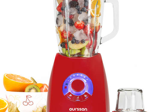 Fresh-Style Standmixer mit Mühle OURSSON BL0642G/RD
